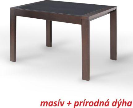 Jídelní stůl, rozkládací, ořech, JANADAN