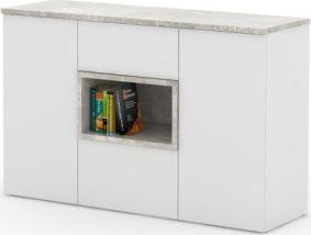 Komoda, bílá / beton, FARIS 03