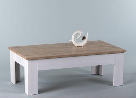 Konferenční stolek PROVENSAL, bílá, dub San Remo