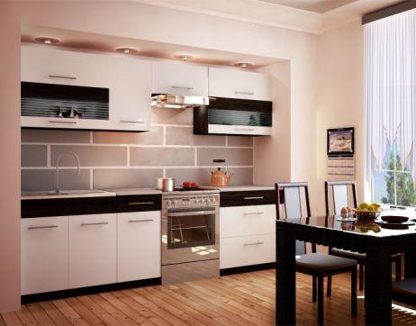 Kuchyňská linka, bílá / venge, JURA NEW B ZS 2,6 m