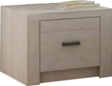 Noční stolek, DTD laminovaná, jasan bílý, INFINITY