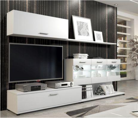 Obývací stěna, bílá, MURAT