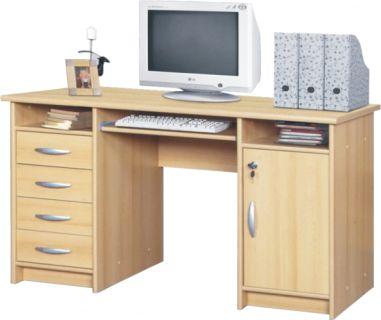Moderní PC stolek B9, buk