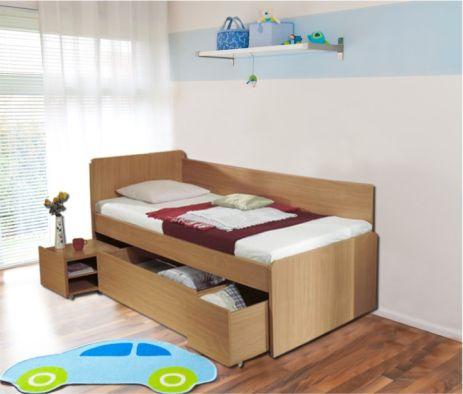 Dětská postel s úložným prostorem OTO, buk