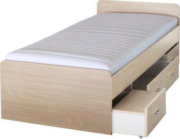 Dětská postel DUET 90x200 cm, javor