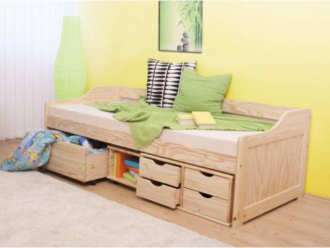 f6c66d41cf00c Postel s úložným prostorem, přírodní, 90x200, MAXI | Nábytek za kačku.cz