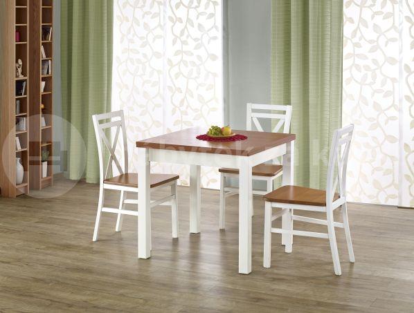 Jídelní stůl Gracjan, bílý-olše