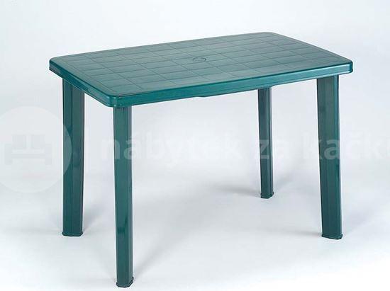 Plastový zahradní stůl Faretto zelený