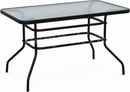 Jídelní stůl DEMAT NEW, tvrzené sklo/ocel
