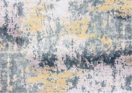 Koberec, šedá / žlutá 80x200, MARION TYP 1