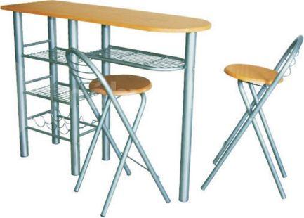 Komplet barový stůl + 2 židle BOXER, buk