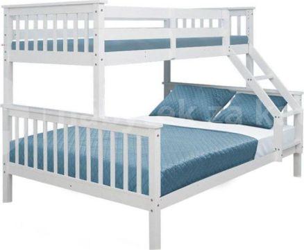 Patrová rozložitelná postel BAGIRA, bílá