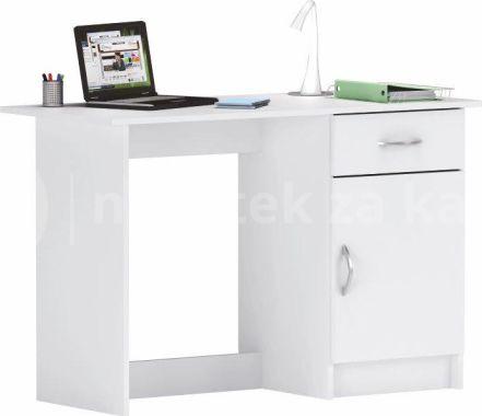 Bílý PC stolek SIRISS