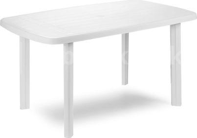 Plastový zahradní stůl Faro bílý