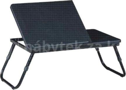 Skládací stolek na notebook EVALD, černá