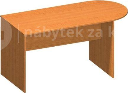 Kancelářský stůl s obloukem, třešeň, TEMPO AS NEW 022